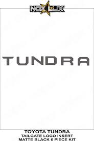 toyota logo 2014 2018 tundra tailgate matte black logo insert nox lux
