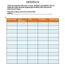 petition template 07 petition templates pinterest templates
