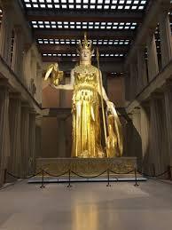 Parthenon Interior The Statue Of Athena Inside The Parthenon In Nashville Tn