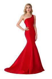 dress one shoulder dress red prom dress taffeta dress