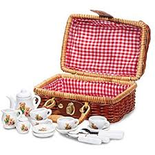 Picnic Basket Set Fairy Tale Picnic Basket And Tea Set For Kids 32 Piece China Tea