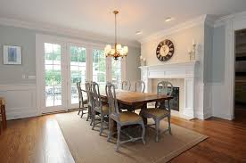 Traditional Dining Room With Stone Fireplace  Chandelier In New - Traditional dining room chandeliers