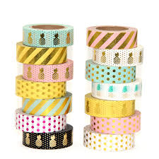 what is washi tape new 1x 15mm gold sting pineapple fruit japanese washi tape