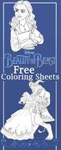 beauty and the beast coloring sheets and free printables