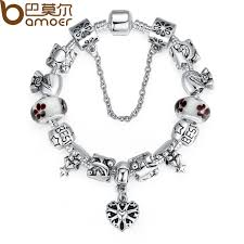 bracelet luxury charms images Bamoer luxury silver charm bracelets bangle for women with high jpg