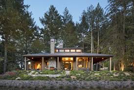 Cabin Style Home by Small Woodsy Cabin Features A Cozy Farmhouse Style In Napa Valley