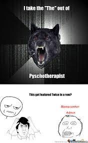 Crazy Wolf Meme - rmx insanity wolf by selikem meme center