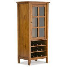 amazon com simpli home warm shaker high storage wine rack honey