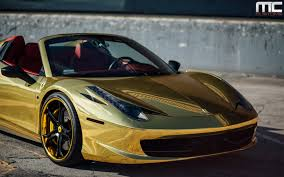 ferrari gold wallpaper dub magazine gold ferrari 458 italia spider