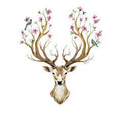 deer head new 3d animal deer head wall stickers for kids rooms bedroom sticker