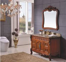 bathroom cabinets european design classical style solid rubber