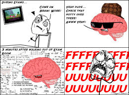 Rage Comics Know Your Meme - scumbag brain rage comics know your meme
