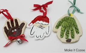 make it cozee santa reindeer tree print ornaments