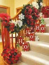 How To Decorate Banister With Garland Best 25 Christmas Stairs Decorations Ideas On Pinterest