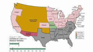 Labeled Map Of North America by Animated History Of The Confederate States Of America 1860 1870