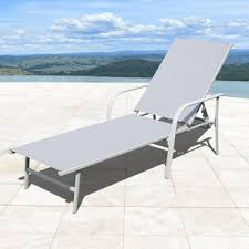 Outdoor Reclining Chaise Lounge Metal Patio Chaise Lounges You U0027ll Love Wayfair