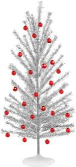 silver tinsel christmas tree genuine aluminum christmas tree home kitchen