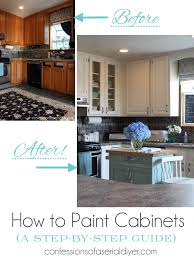 How To Paint Kitchen Cabinets A StepbyStep Guide Confessions - Diy paint kitchen cabinets