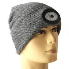 running hat with lights sports running 6 led beanie knit hat rechargeable cap light cing