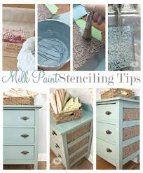 How To Paint A Filing Cabinet Peek A Boo Design Stencil With Milk Paint Salvaged Inspirations