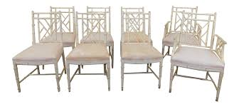 w u0026 j sloane furniture rattan chippendale painted dining chairs
