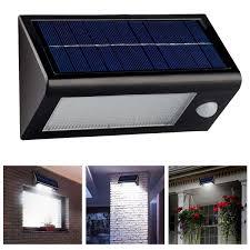 solar front porch light solar powered porch light 16 led power motion sensor garden security