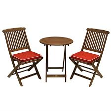 Patio Furniture Seat Cushions 3 Outdoor Patio Furniture Bistro Set With Seat Cushions