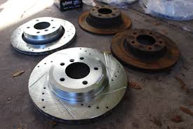 bmw rotors e36 and track build e46 330i brakes installed