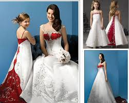 Red And White Wedding Dresses Discount Exquisite White And Red Wedding Dress Mother Daughter