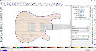 guitar design in inkscape software project electric guitar