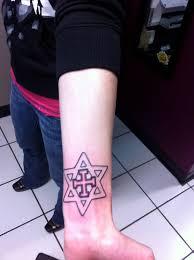 forearm cross tattoo 7 cross star of david tattoos