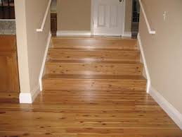 family room australian cypress hardwood flooring stairs after