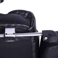 homcom high back office swivel executive leather desk chair