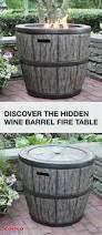 Wine Barrel Fire Pit Table by Wine Barrel Fire Pit Kit Fire Pit Pinterest Barrels