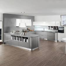 Grey Kitchen Cabinets by Gray Kitchen Cabinets With Black Counter Stainless Steel Two Tier