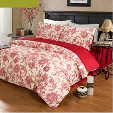 Cotton Queen Duvet Cover Red Floral Cotton Generous Wedding Queen Duvet Covers Ogb14103115