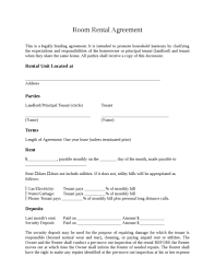 room rental agreement legalforms org