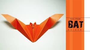 how to make origami bat u2013very easy paper bat u2013how to fold origami