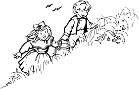 coloring download jack and jill nursery rhyme coloring page jack