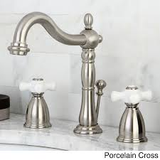 Kingston Brass Bridge Faucet Kingston Brass Vintage Satin Nickel Widespread Bathroom Faucet