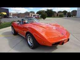 1973 corvette convertible for sale sold 1975 orange c3 corvette z07 for sale by corvette mike