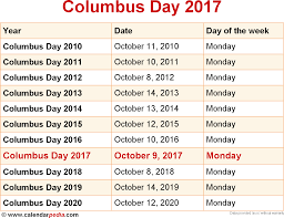 thanksgiving holiday dates when is columbus day 2017 u0026 2018 dates of columbus day