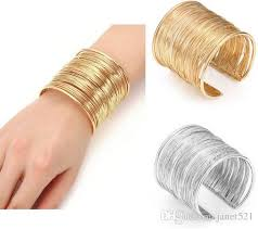 ring cuff bracelet images Punk cuff bangle bracelets wire metal circle split ring coil wire jpg