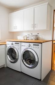 How To Install Wall Cabinets In Laundry Room Small Laundry Room Remodel White House Black Shutters