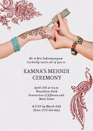 henna invitation henna mehndi ceremony invitation invites
