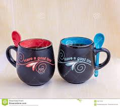 his and hers mug his and mugs of tea stock photo image 59573222