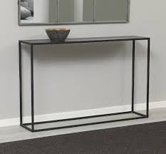 Metal Console Table Zen Black Metal Console Aflair For Home