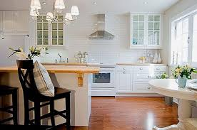 Oven Backsplash Glass Subway Tile Kitchen Wooden Cabinet Built In Oven Cylinder