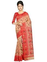 dhakai jamdani saree online buy women s dhakai jamdani saree in muslin beige online