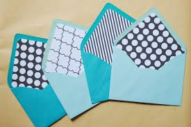 diy envelope liners a touch of teal